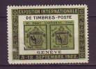 SUISSE. HELVETIA. VIGNETTE. CINDERELLA. EXPOSITION TIMBRE. GENEVE. SEPTEMBRE 1922 - Suisse