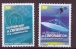 Polynesie N° 719-720** Neuf Sans Charniere Les Technologies De L'information - Polynésie Française