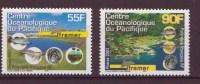 Polynesie N° 674-675** Neuf Sans Charniere Centre Oceanologique - Polynésie Française