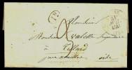 LOT 2 LETTRES  PRECURSEUR- COVER- FRANCE- CAHORS POUR MONTRÉJEAU 1847-  SEVRE POUR NOAILLE 1841- CAD 12 - 1801-1848: Vorläufer XIX