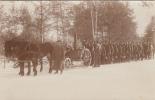 RUSSLAND-SOLDATS ALLEMANDS-FELDKUCHE DANS LA NEIGE-CARTE PHOTO - War 1914-18