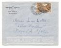 CONGO  FRANCAIS  /  Enveloppe De La Trésorerie Générale De L´ A.E.F. , à BRAZZAVILLE  /  TIMBRE  ET  CACHET  DE  1957 - Timbres