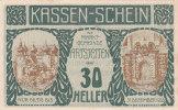 Notgeld 30 Heller  : ARTSTETTEN - Autriche