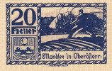 Notgeld 20 Heller  : MONDSEE IN OBERÖFTERR - Autriche