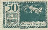 Notgeld 50 Heller  : MONDSEE IN OBERÖFTERR - Autriche