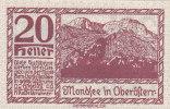 Notgeld 20 Heller  : OBERÖFTERR - Autriche