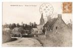 Domjean - Route De Torigni - Charrette Sur La Route - Eglise - Dos écrit Et Timbré En 1927 - Belle Calligraphie - France