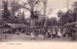 CPA Carte Postale Ancienne AFRIQUE DAHOMEY AGONSA Le Marché Animée PRECURSEUR TBE - Dahomey