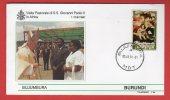 Burundi  - Enveloppe Voyage Du Pape Jean-Paul II - 1990 - Burundi - Burundi