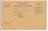 V369 - CPFM MINISTERE DE LA GUERRE - Cartes De Franchise Militaire
