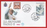 Saint Marin  - Enveloppe Voyage Du Pape Jean-Paul II - 1982 - San Marino - Lettres & Documents