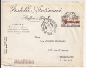 V392 - FOLIGNO AP - ORDINARIE - 1956 - à Destination STRASBOURG ALSACE FRANCE - - 1946-.. République