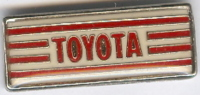 Pins Toyota Bord Met Strepen Rood Wit - Toyota