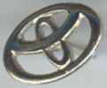 Pins Toyota Zilverkleurig Logo - Toyota