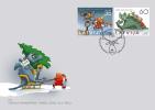 2011 Latvia CHRISTMAS Stamp  + NEW YEAR Set SANTA + DINO + Reindeer  FDC - Lettonie