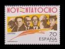 ESPAÑA 1998 - LITERATURA - GENERACION DEL 98 - Edifil Nº 3536 - Yvert 3111 - 1931-Aujourd'hui: II. République - ....Juan Carlos I