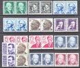 U.S. 1297-1402  PAIRS   **  PROMIMENT AMERICANS - Unused Stamps