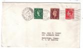 VER683 - GRAN BRETAGNA , Lettera Da Lerwick 15/12/1953 Per USA - Postmark Collection