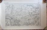 Carte D' Etat Major BEAUVAIS, 1889. Clermont, Le Mesnil, Rosoy, Rouvillers, Monchy, Rémy, Bazicourt, Jonquières - Topographical Maps