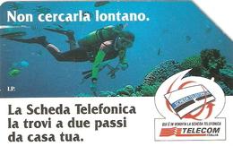 *ITALIA: NON CERCARLA LONTANO - MARE* - Scheda Usata (variante 608a) - Fouten & Varianten