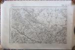 Carte D' Etat Major BEAUVAIS, 1889. La Chapelle, Villers, Berneuil, Noailles, Fouquerolles, Guignecourt, Bulles - Topographical Maps