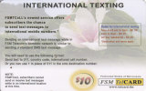 Micronesia, FSM-R-032, White Flower - International Texting, 2 Scans. - Micronesia