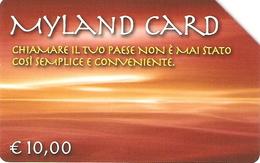 *ITALIA: MYLAND CARD* - Scheda Usata - Pubbliche Figurate Ordinarie