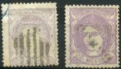 Espagne (1870) N 106 + 106a (o) - Usados