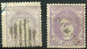 Espagne (1870) N 106 + 106a (o) - 1868-70 Provisional Government