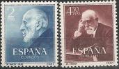 1952-ED. 1119a20-SERIE COMPLETA-DOCTORES RAMÓN Y CAJAL Y FERRÁN-NUEVO - 1931-Hoy: 2ª República - ... Juan Carlos I