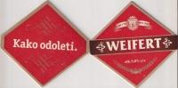 WEIFERT Beer Coaster  Pancevo Brewery Yugoslavia Serbia - Beer Mats