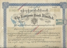 BIRMANIE . RANGOON BANK  +TIMBRES - Asie