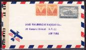 Luftpost, EF Kolumbus-Mausoleum + Zwang, Havanna Nach New York, Zensurverschluss 1944 (70394) - Cuba