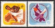 USSR Russia 1961 Africa Day African Breaking Chains Liberation People Map Globe Torch History Stamps Michel 2471-2472 - Stamps