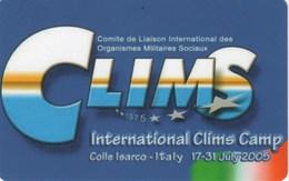 *ITALIA: INTERNATIONAL CLIMS CAMP* - Scheda Usata - Pubbliche Figurate Ordinarie