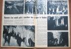 """Magazine Avec Article """"Découverte Nouvelle Grotte Région Rochefort"""" 1956 - Collezioni"""