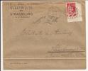 V400 - Ambulant BALE A STRASBOURG 2° - 1936 - Timbre Type PAIX - VOIR SCAN VERSO PUB - - Marcophilie (Lettres)