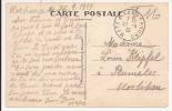 V404 - Ambulant METZ A SARREBOURG - 1939 - Franchise Militaire - Verso CONTHIL Route De Dieuze - Marcophilie (Lettres)