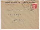 V406 - Ambulant NANCY A STRASBOURG 1° - 1933 - Timbre Type PAIX - Entête Entreprise De Peinture DETTWILLER - - Marcophilie (Lettres)