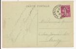 V411 - Ambulant SARREGUEMINES A NANCY - 1936 - Timbre Type SEMEUSE - - Marcophilie (Lettres)