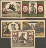 Strzegom -  Striegau - II - POLAND  - 1921 - SET OF 5  NOTGELDS Notes - Pologne