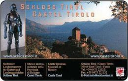 *ITALIA: MUSEO CASTEL TIROLO* - Scheda Usata (bilingue) - Public Practical Advertising