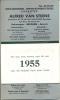 Kalender Alfred Van Steene 1955 Antwerpen Berchem Textiel - Calendriers