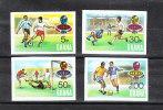 Ghana   -   1974.  Complete  Set  Imperforated. MNH, Fresh, Rare - Coppa Del Mondo