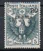 Ital. Eritrea, 1916 Rotes Kreuz 20 Auf 15 Cent., MiNr. 46 Ungebraucht (a020709) - Eritrea