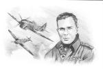 Pierre Clostermann - Le Grand Cirque   -  Portrait Au Crayon  De Benjamin Freudenthal - Aviateurs