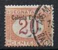 Ital. Eritrea, 1903 Portomarken 20 Cent. , MiNr. 3I Gestempelt (a030101.jpg) - Eritrea