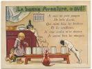 Chromo Pub Ricqles Alcool Menthe Chat Chien Chanson La Bonne Aventure Portée H. Grerbault - Vieux Papiers