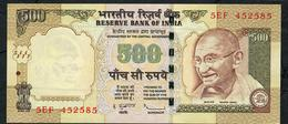 INDE INDIA  P99e1  500 RUPEES 2009 #5EF Sign.20  NO Letter  AU-UNC.   NO P.h. ! - India