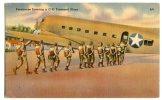 CARTOLINA FORMATO PICCOLO AEREO C-53 PARACADUTISMO PARATROOPS PLANE - Paracadutismo